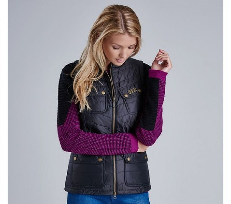 Barbour Women Worldcrosser Gilet Black/Verdigris