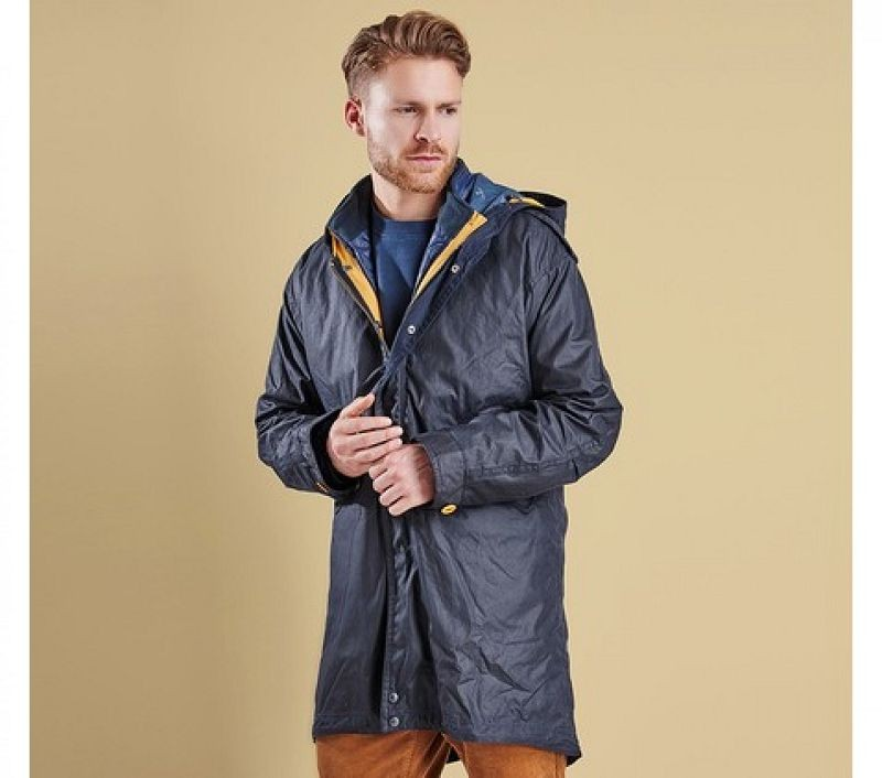 Barbour Men Kellen Wax Jacket Navy