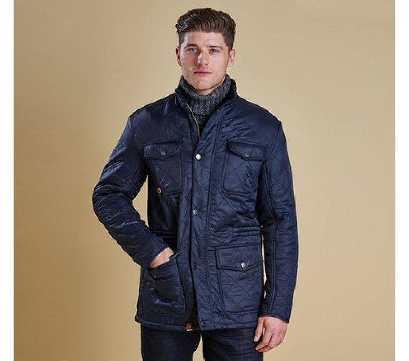 Barbour Men Kendle Quilted Jacket Navy