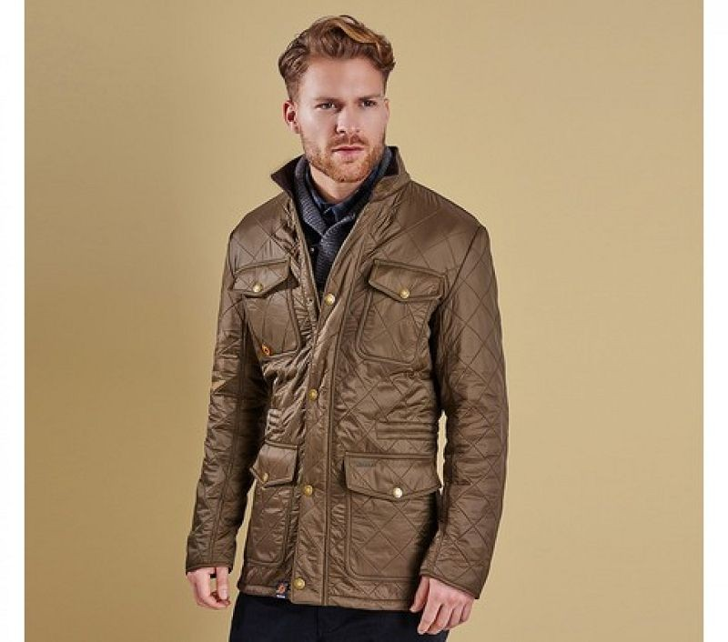 Barbour Men Kendle Quilted Jacket Olive