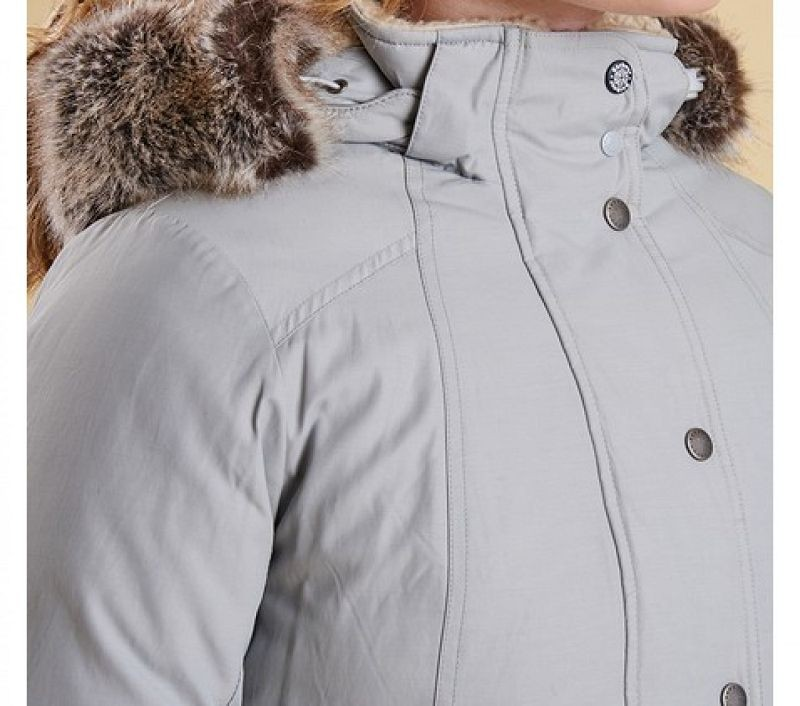 Barbour Women Kirkby Coat Silver Ice
