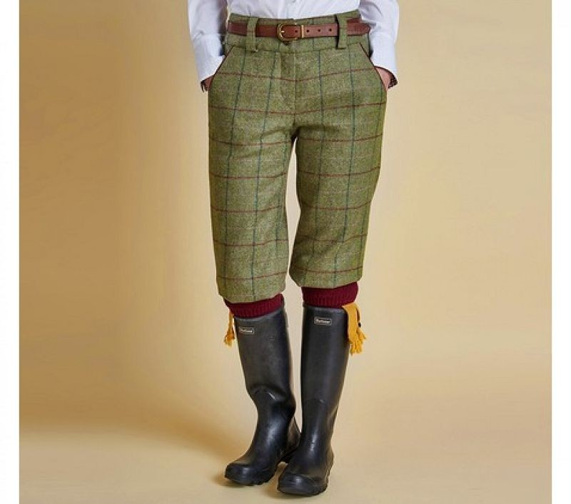Barbour Women Lemington Breek Trousers Olive Check