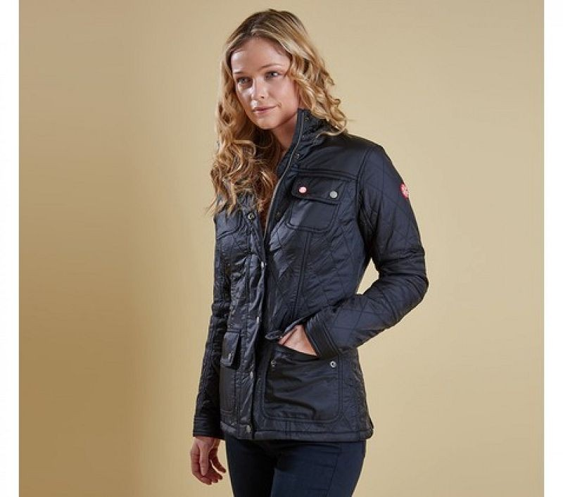 Barbour Women Bartlett Quilted Jacket Black/Flare