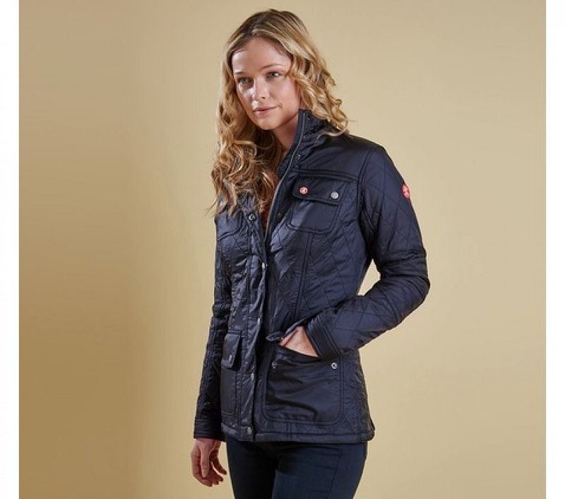 Barbour Women Bartlett Quilted Jacket Navy