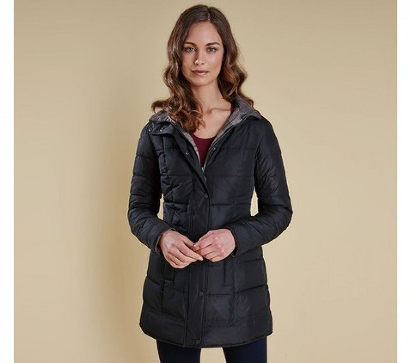Barbour Women Carlin Quilted Jacket Black