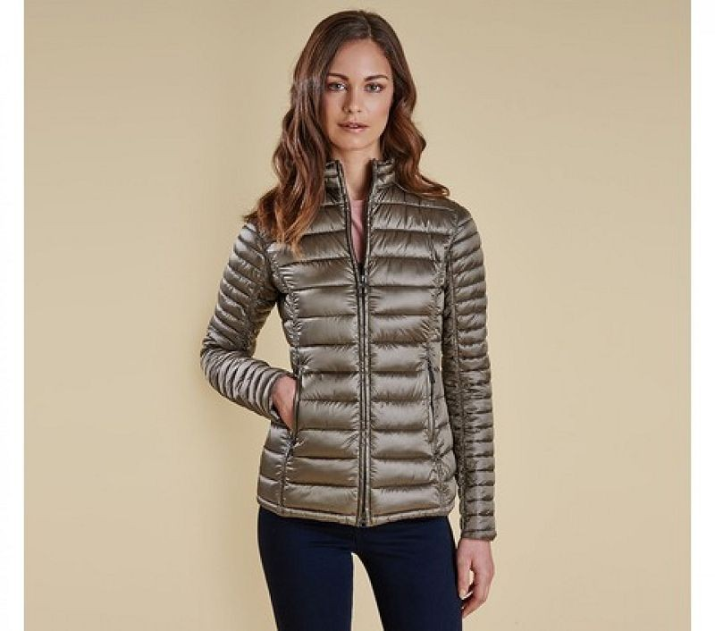 Barbour Women Clyde Short Baffle Quilted Jacket Mink