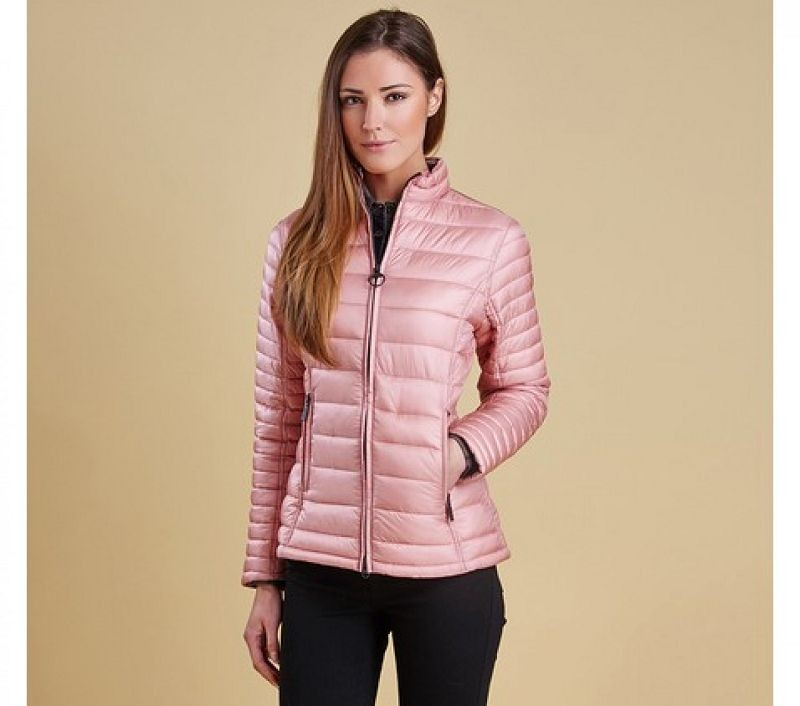Barbour Women Clyde Short Baffle Quilted Jacket Rose