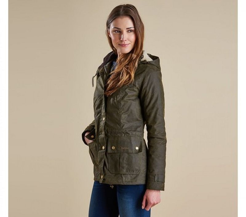 Barbour Women Kelsall Waxed Jacket Black/Modern