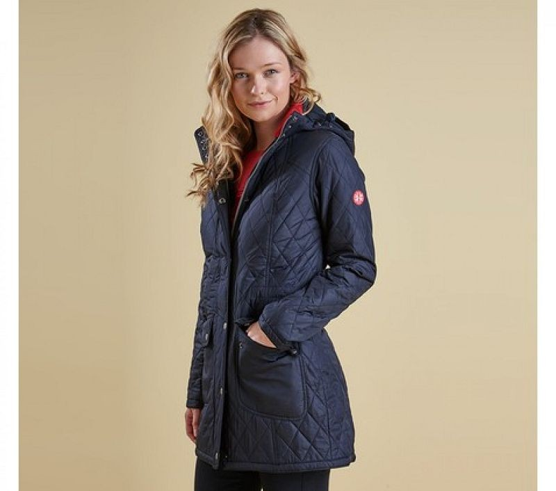 Barbour Women Kirkby Quilted Jacket Navy