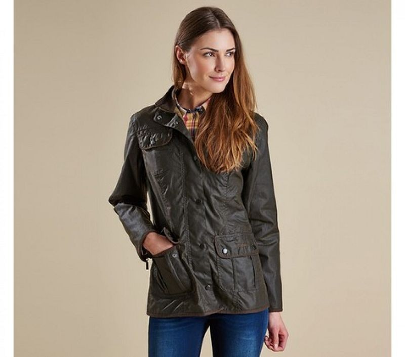 Barbour Women Ladies Utility Waxed Jacket Olive