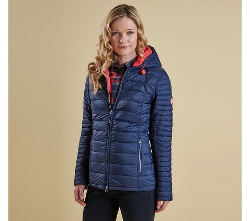 Barbour Women Landry Baffle Quilted Jacket Navy/Flare