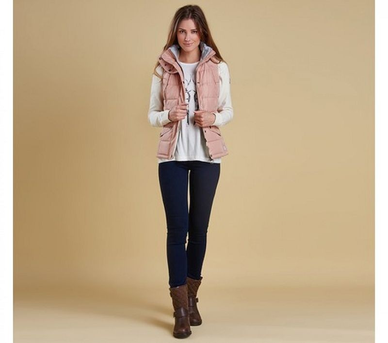Barbour Women Landry Gilet Nude/Silver Ice