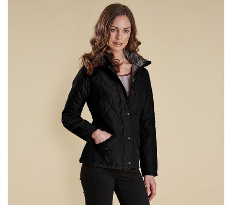 Barbour Women Millfire Quilted Jacket Black