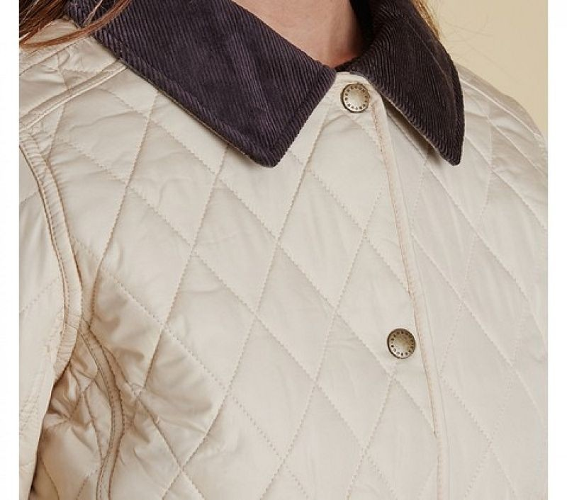Barbour Women Montrose Quilted Jacket Macadamia