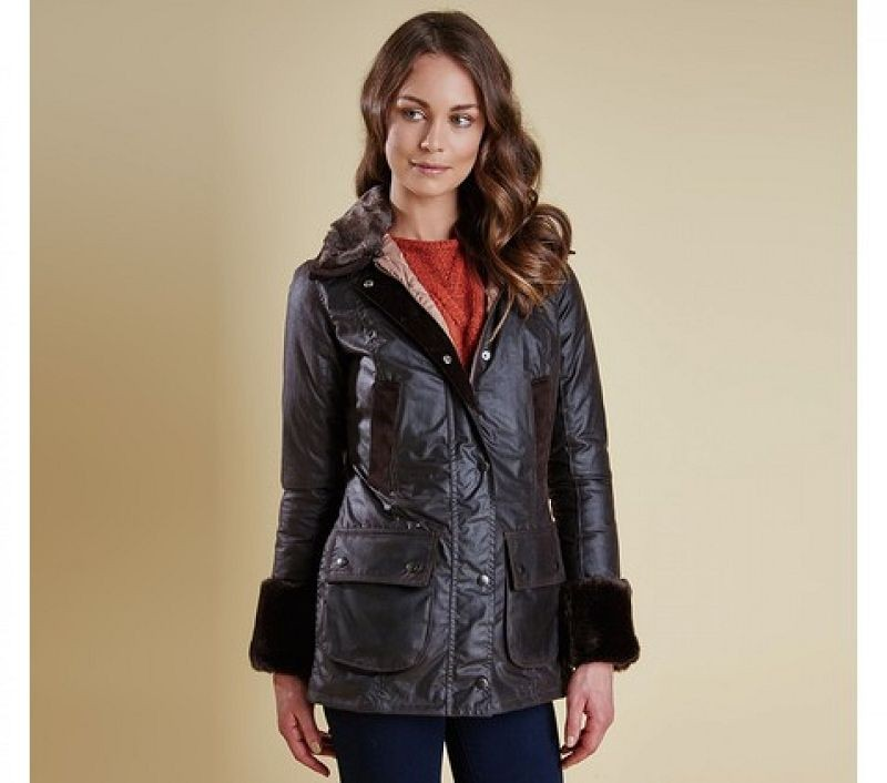 Barbour Women Ratio Wax Jacket Rustic