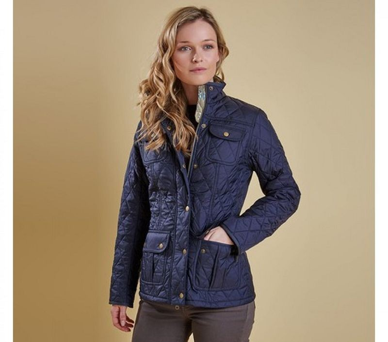 Barbour Women Ruskin Quilted Jacket Navy/Artichoke