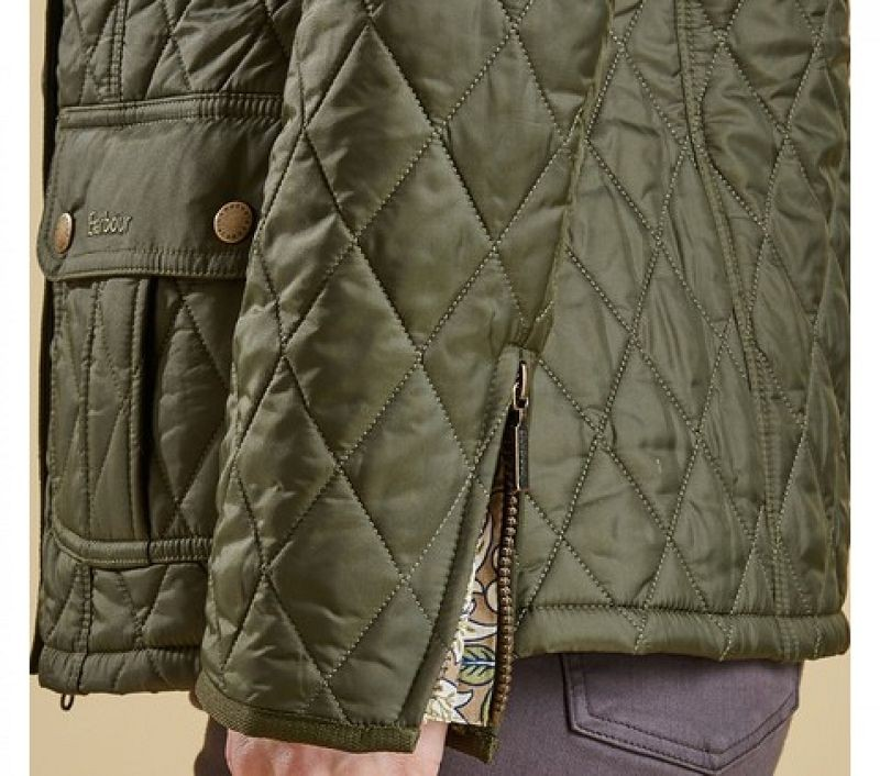 Barbour Women Ruskin Quilted Jacket Olive/Artichoke