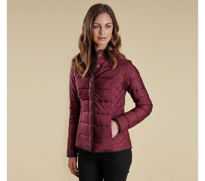 Barbour Women Straiton Quilted Jacket Bordeaux