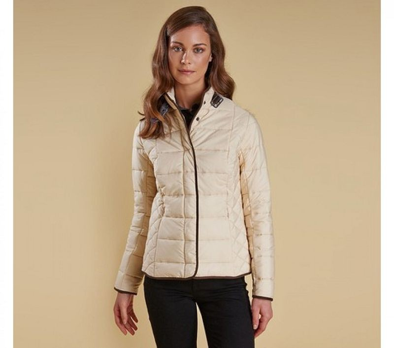 Barbour Women Straiton Quilted Jacket Macadamia