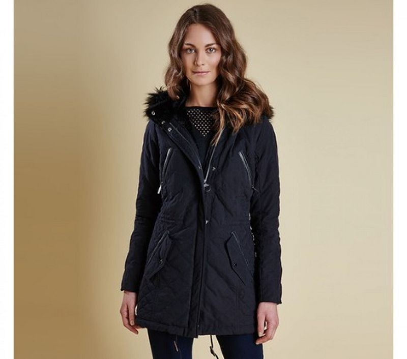 Barbour Women Terrain Quilted Parka Black