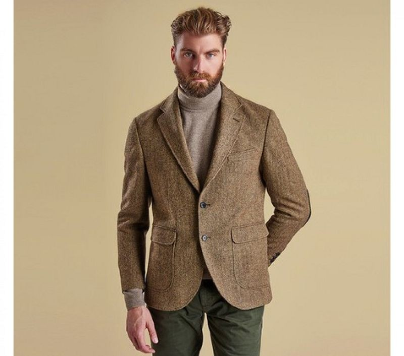 Barbour Men Lydon Tailored Jacket Sand