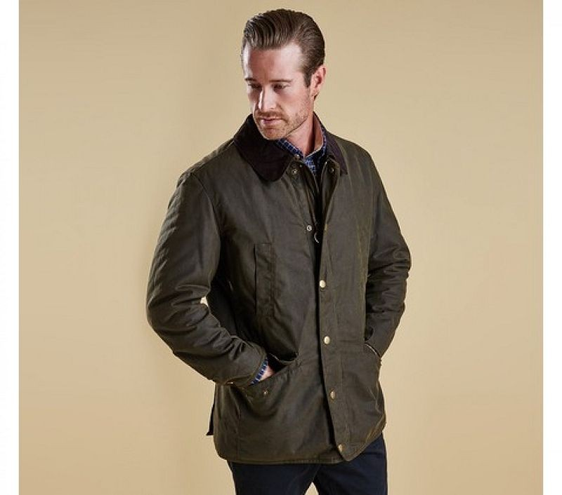 Barbour Men Martindale Waxed Jacket Olive