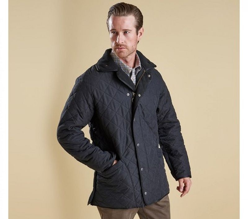 Barbour Men Microfibre Polarquilt Jacket Black
