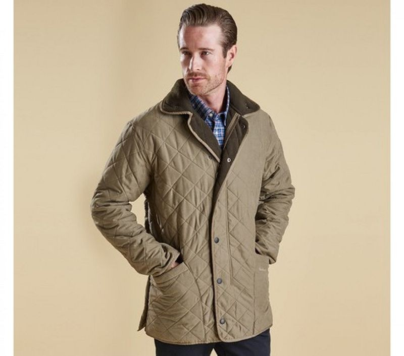 Barbour Men Microfibre Polarquilt Jacket Light Olive