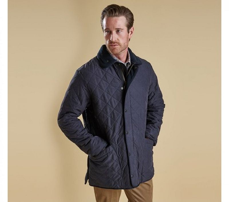 Barbour Men Microfibre Polarquilt Jacket Navy