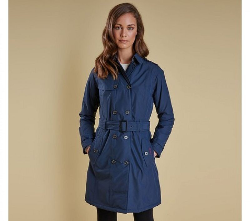 Barbour Women Millfire Trench Jacket Carbon