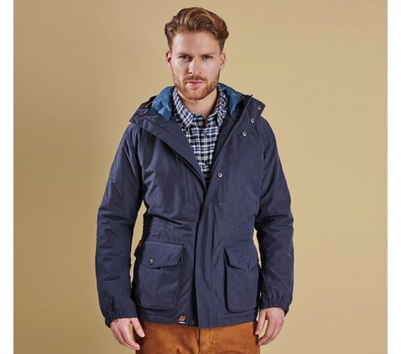 Barbour Men Morley Jacket Navy
