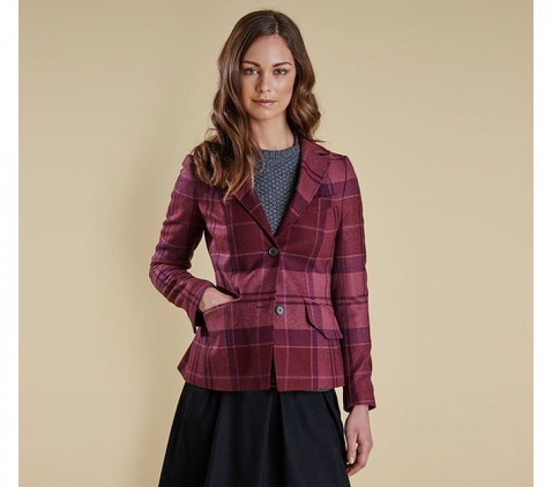 Barbour Women Nebit Tailored Jacket Bordeaux