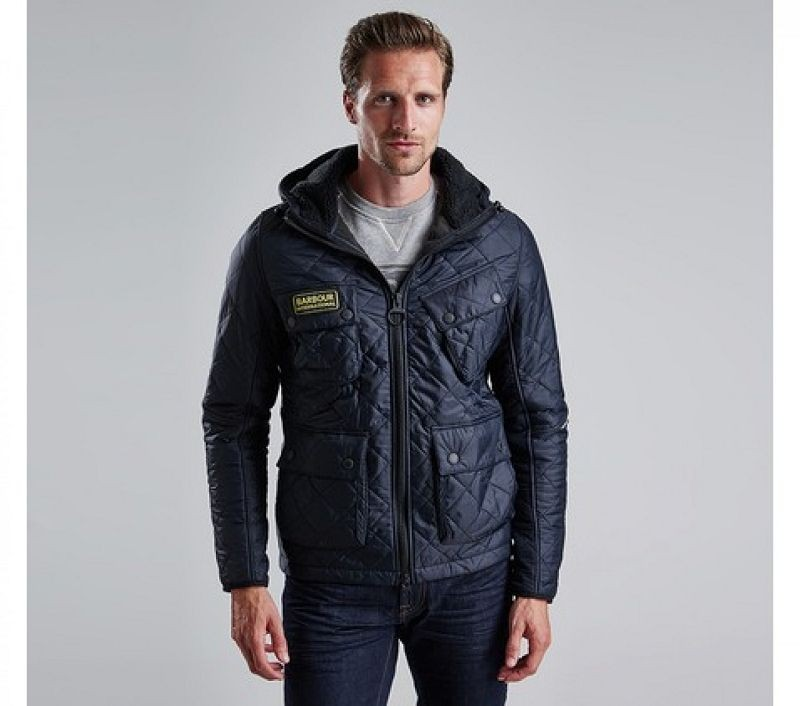 Barbour Men Paxton Quilted Jacket Black