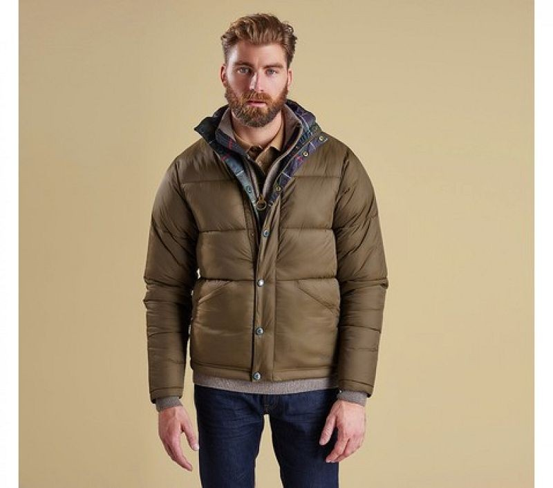 Barbour Men Piquet Quilted Jacket Olive