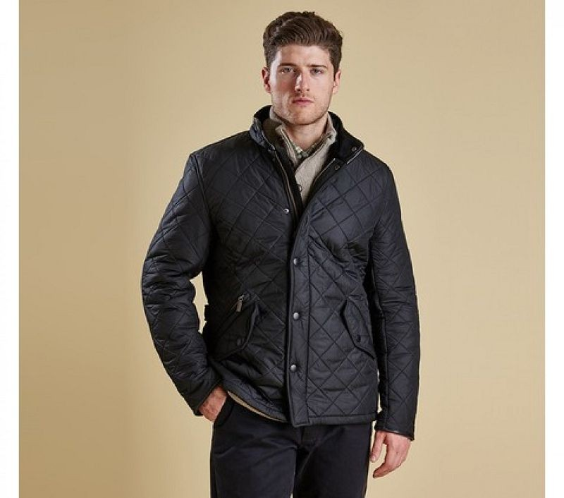 Barbour Men Powell Quilted Jacket Black