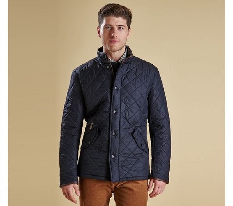 Barbour Men Powell Quilted Jacket Navy