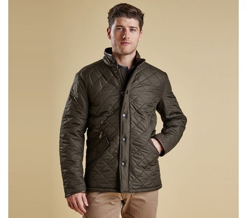 Barbour Men Powell Quilted Jacket Olive