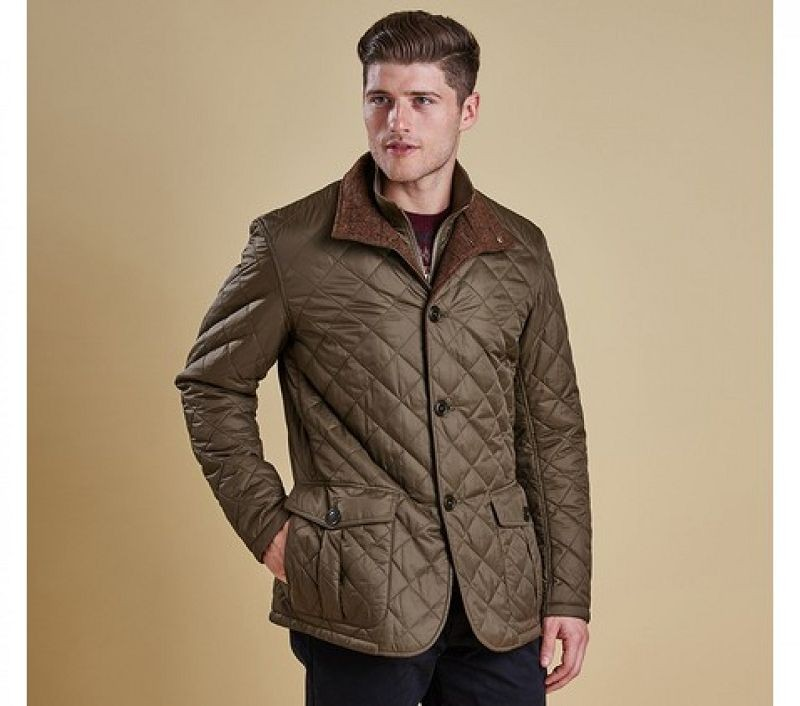 Barbour Men Prior Quilted Jacket Olive