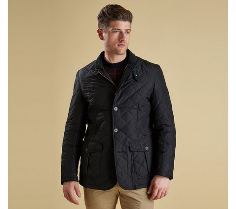 Barbour Men Quilted Lutz Quilted Jacket Black