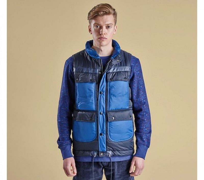 Barbour Men Raekawa Quilted Gilet Navy