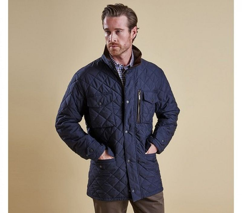 Barbour Men Sapper Quilted Jacket Navy