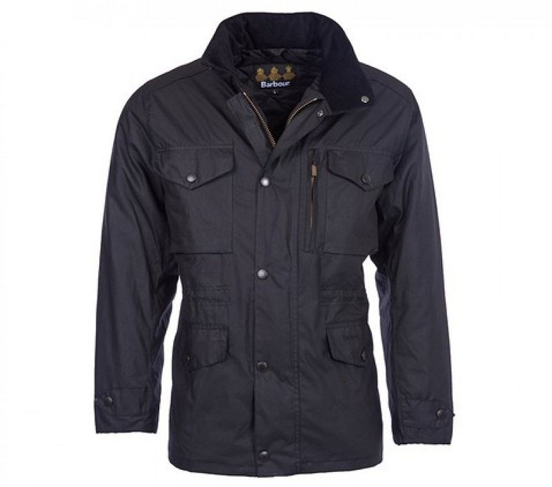 Barbour Men Sapper Waxed Jacket Black