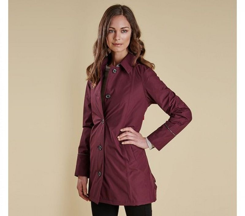 Barbour Women Straiton Wax Jacket Bordeaux