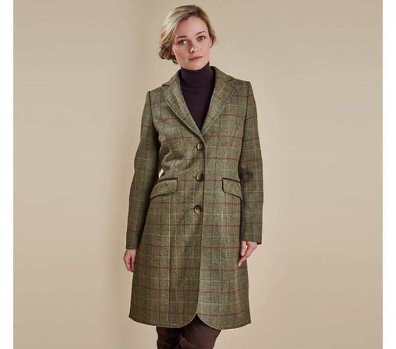 Barbour Women Swaledale Covert Coat Olive