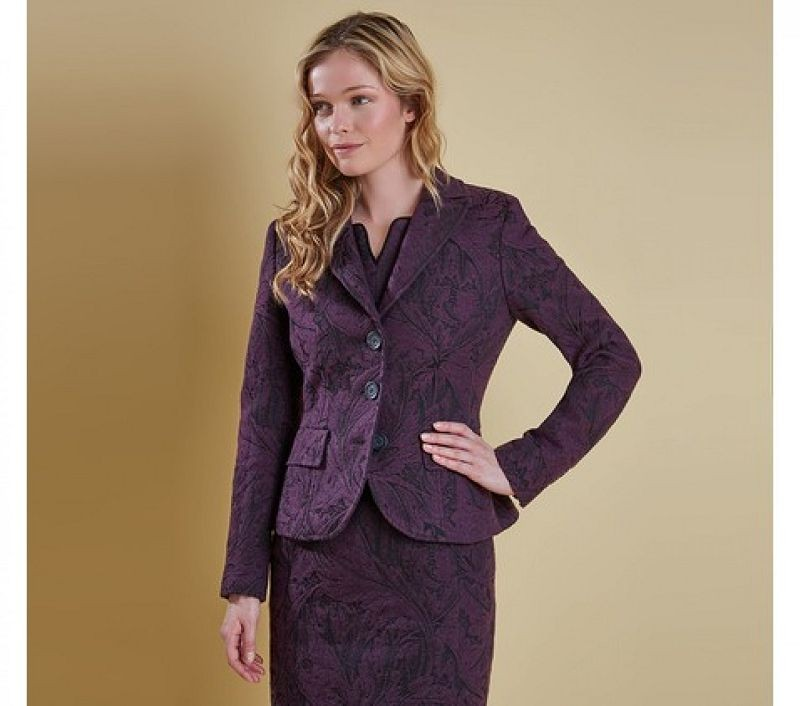Barbour Women Swinburn Tailored Jacket Damson