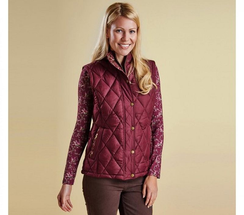 Barbour Women Tors Gilet Bordeaux