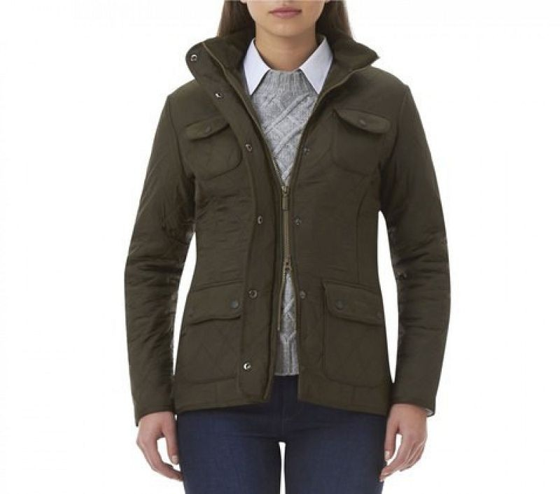 Barbour Women Utility Polarquilt Jacket Olive
