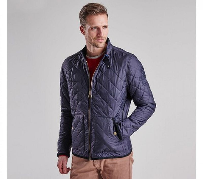 Barbour Men Wanted Quilted Jacket Navy