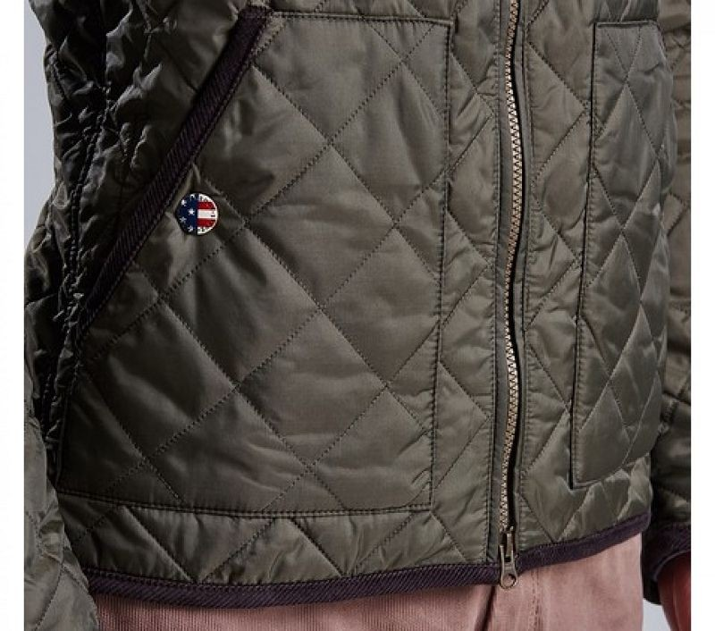 Barbour Men Wanted Quilted Jacket Olive