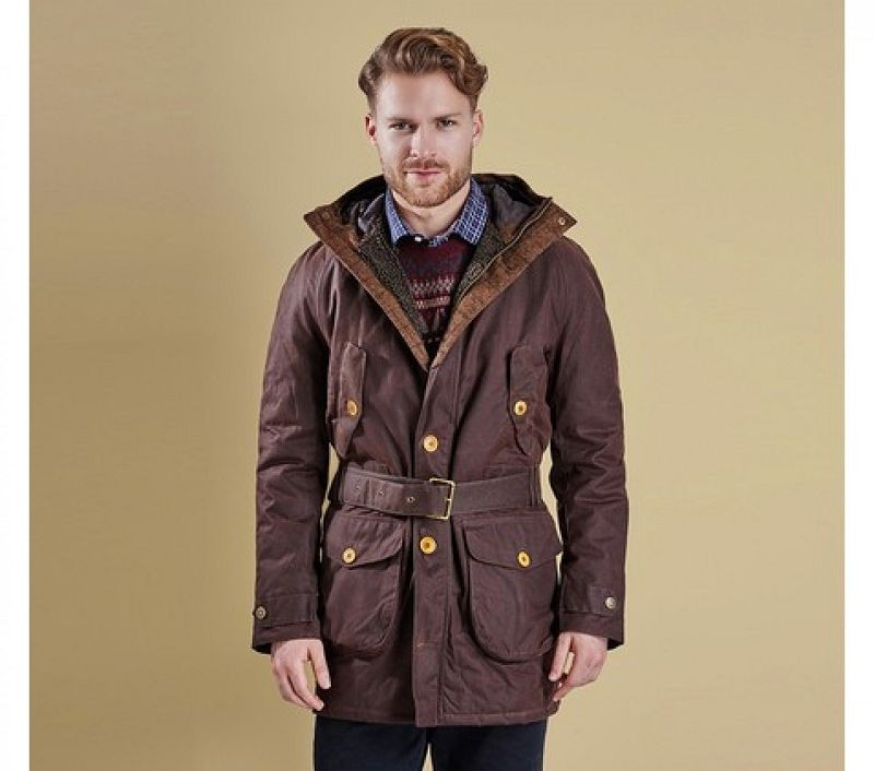 Barbour Men Wicklow Wax Jacket Rustic